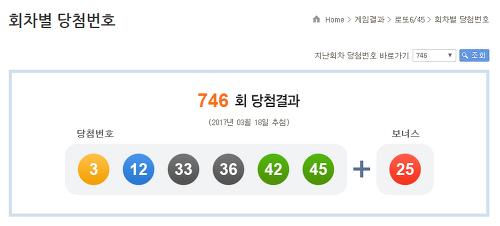 로또당첨번호조회746회 확인합시다 (간단)