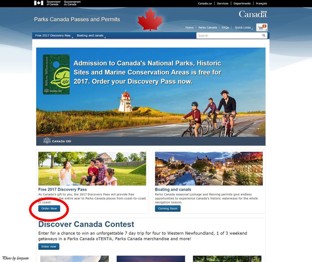 캐나다 건국 150주년 디스커버리 패스 신청하..
