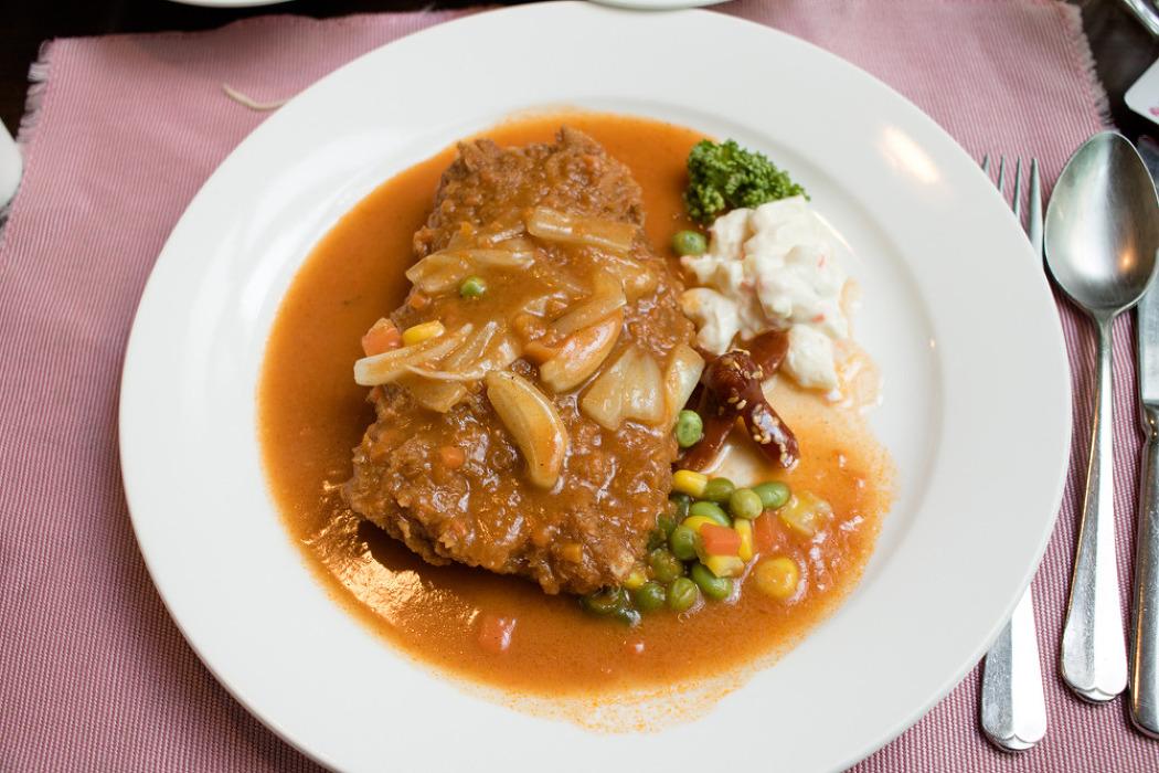 여수 여서동 경양식집 올리브레스토랑의 이탈리아돈까스 후기