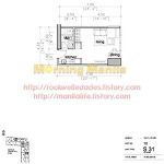 Manila Makati Condo For Sale Rockwell Edades Tower And Garden Villas Unit Layout No.10 Studio 31 SQM