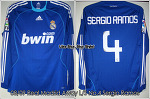 "08/09 Real Madrid Away L/S No.4 ""Sergio Ramos"" Match Issue (vs. Racing 21 Sep 2008)"