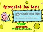 스폰지밥 쏘우 - 플래시게임