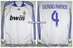 07/08 Real Madrid Home L/S No.4 Sergio Ramos Match Worn (vs. Osasuna 16 Dec 2007) (SOLD OUT)