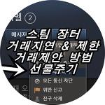 스팀 장터 거래지연 제한 푸는법 & 제안 & 선물주기