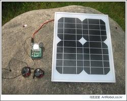아두이노 + 태양전지 + WaveShield로 휴대형 음악재생기 구현