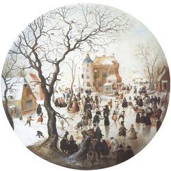 침묵 속 활기, 화가 아베르캄프의 '겨울 풍경'