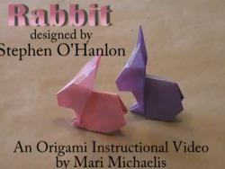토끼 종이접기 동영상입니다.