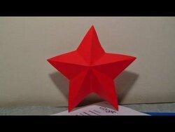 불가사리 종이접기 동영상입니다.