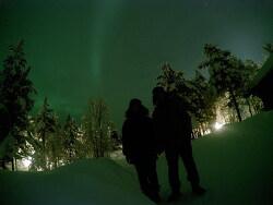 핀란드 오로라 헌팅 칵슬라우타넨 GIF 사진