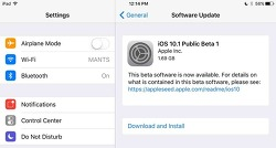 iOS 10.1 퍼블릭 베타1 배포 및 업데이트 방법