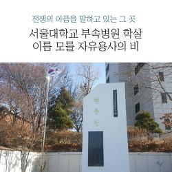 전쟁의 아픔을 말하고 있는 그 곳, 서울대학교 부속병원 학살 이름 모를 자유용사의 비