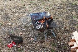 불장난과 바베큐 필수품, BUCK703 캠핑 미니화로대