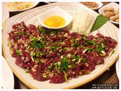 대구달서구맛집:) 안동생고기뭉티기~ 육회가 맛있어요^_^ (광장코아)