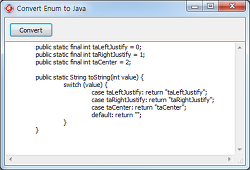 Convert Enum to Java