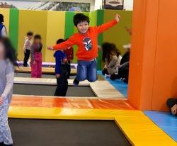 겨울 속에서 점프! 에버랜드 실내 트램펄린존, '팝핑점핑'!