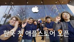 애플스토어 가로수길 오픈하자마자 방문