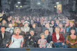 """미국 LA를 배경으로 한 영화 <라라랜드>에 나왔던 헐리우드 거리의 벽화 """"You Are The Star"""""""