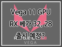 (루머) VEGA 11 GPU 사용한 RX 베가 28, 32 준비중