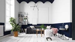 스칸디나비아 장식으로 꾸민 아파트 인테리어