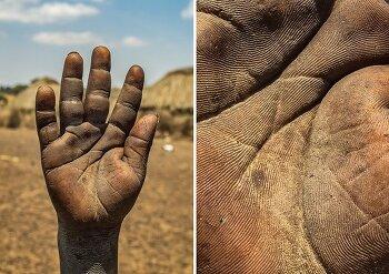 삶이 녹여져 있는 손바닥 사진 시리즈
