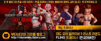 [데드 오어 얼라이브 5 : 라스트 라운드] DOA 5 : Last Round v1.02 ~ 1.10 트레이너 - FLiNG +9 (한국어 버전)