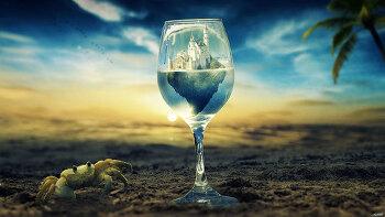 포토샵 합성 강좌 잔 (Photoshop Manipulation Tutorial The Glass)