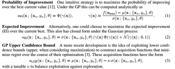 Bayesian Optimization with Expected Improvement