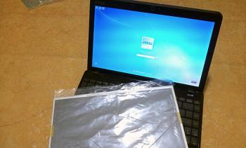 울트라씬 MSI U250-K325 노트북 파손된 LCD 액정 교체 수리기