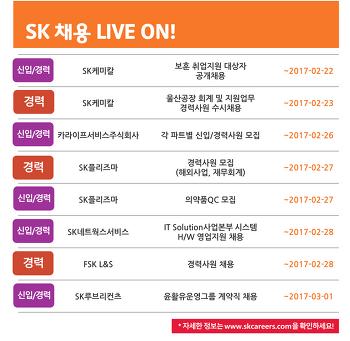 SK그룹 채용소식 2월 4주차
