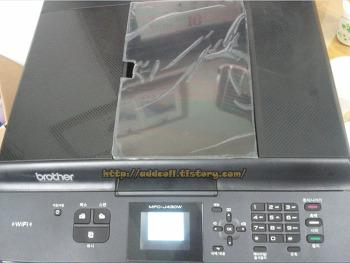 MFC-J430W 복합기 용지 걸림, 용지 구겨짐