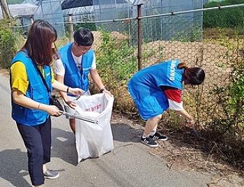 천사의 시 봉사팀의 환경정화 봉사활동