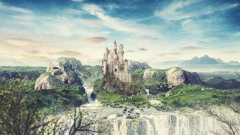 포토샵 합성 강좌 폭포 (Photoshop Manipulation Tutorial Waterfall)