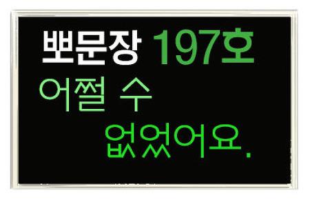 뽀대나는 미국영어 197호] 어쩔 수 없었어요. 어쩔 수 없네요.