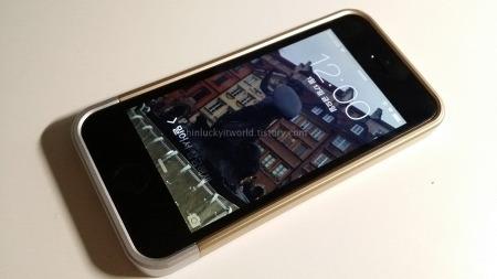 아이폰5S를 안전하게!! SPIGEN SGP 투명케이스 리니어 크리스탈, 샴페인 골드~!