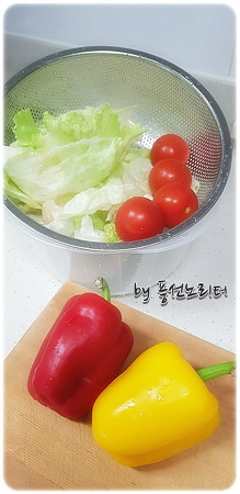 또띠아 요리 - 치킨랩 만들기