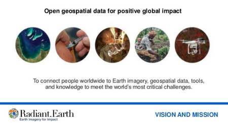 [Radiant.Earth]Open Geospatial Data for Positive Global Impact - Radiant.Earth 소개