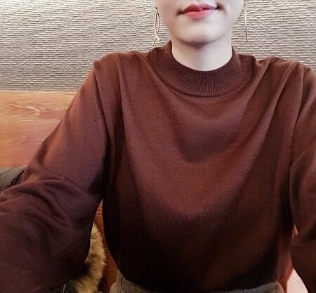 루즈핏 니트 여성 반폴라 이쁘다 이뻐~ 여자 싼옷 쇼핑몰