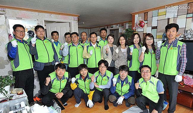 [브랜드 앰배서더] 참된 나눔을 실천하는 포스코 광양제철소 도배재능봉사단