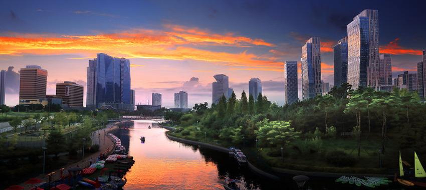 인천의 일몰 Sunset 풍경, 8월