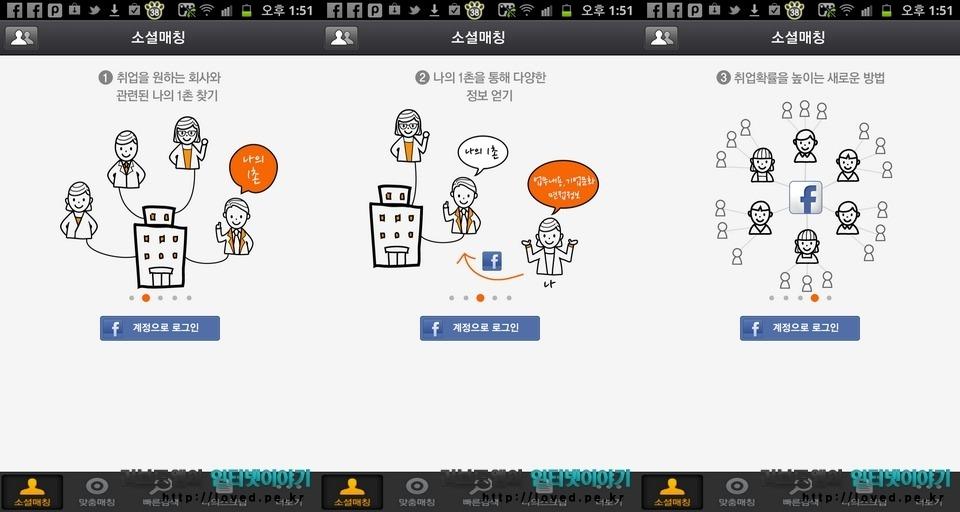 소셜매칭 거기어때 어플 페이스북 연동