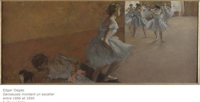 에드가 드가, 계단을 오르는 발레리나들