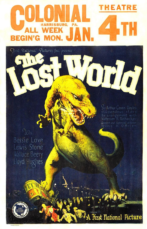 사상 최초로 항공기 안에서 상영되었던 '잃어버린 세계(The Lost World)