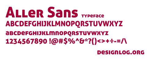 디자인 폰트 - Aller Sans