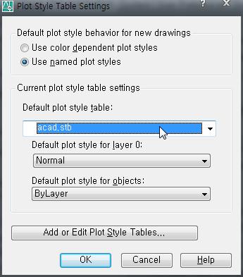 Plot Style Table Settings