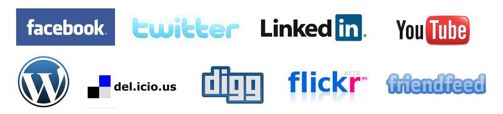 다양한 소셜 미디어 채널