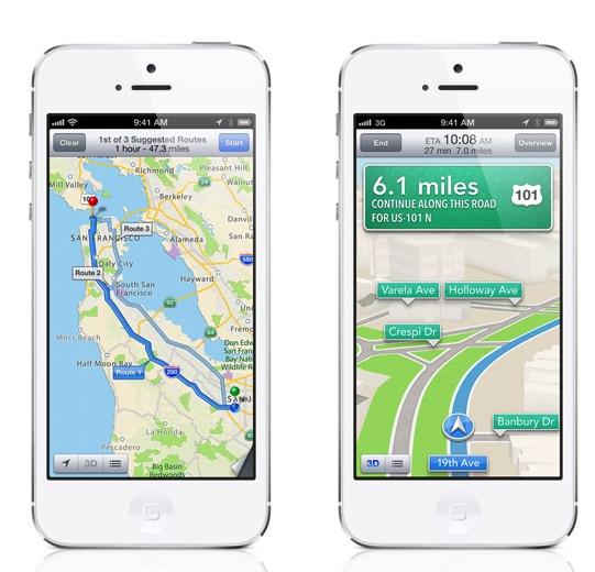 iOS6 애플 지도 턴바이턴