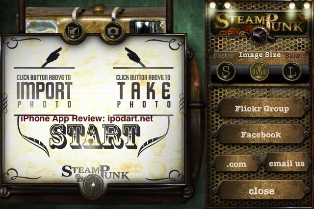 아이폰 아이패드 사진 편집 필터 효과 Steampunk PhotoTada!