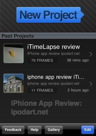 아이폰 스톱모션 애니메이션 iTimeLapse Pro