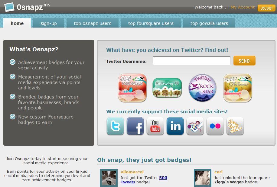 셜캐피탈(Social Capital) 측정 사이트 Osnapz