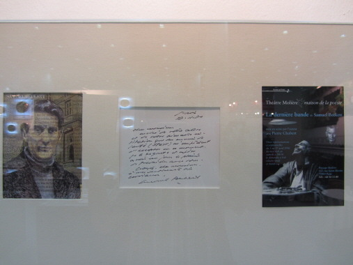 사무엘 베케트의 친필편지와 사진